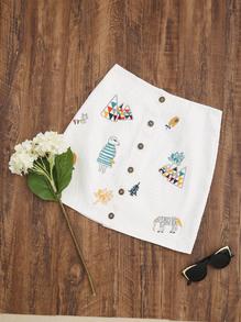 white-a-line-skirt